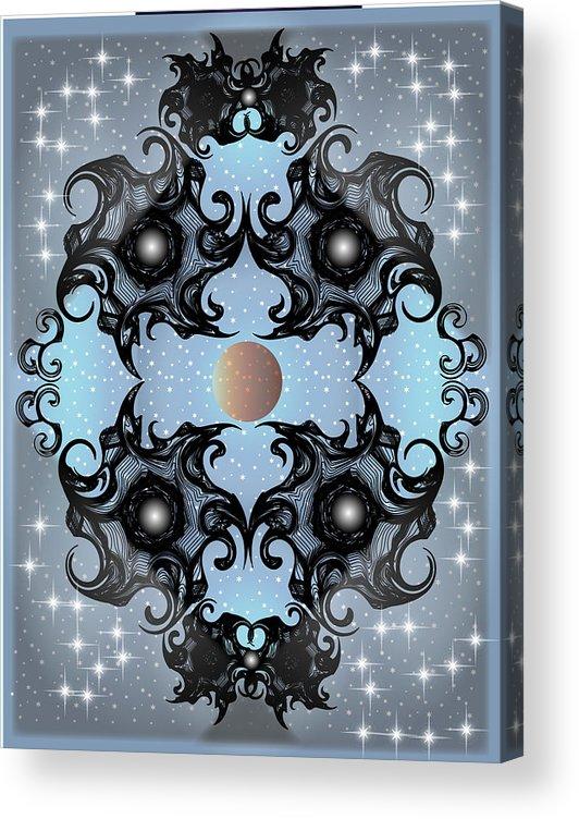 Fantasy Acrylic Print featuring the digital art Night Sky by George Pasini