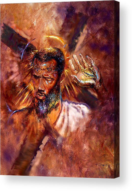 Religious Acrylic Print featuring the painting No Excuses by Tommy Winn