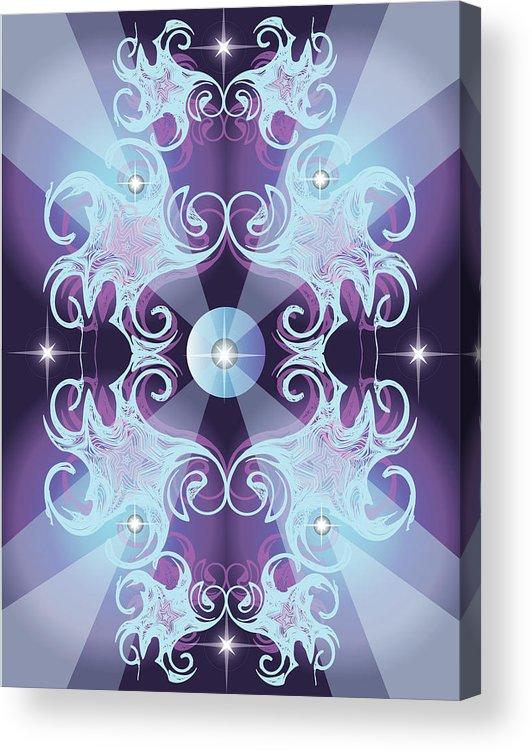 Fantasy Acrylic Print featuring the digital art Nova by George Pasini
