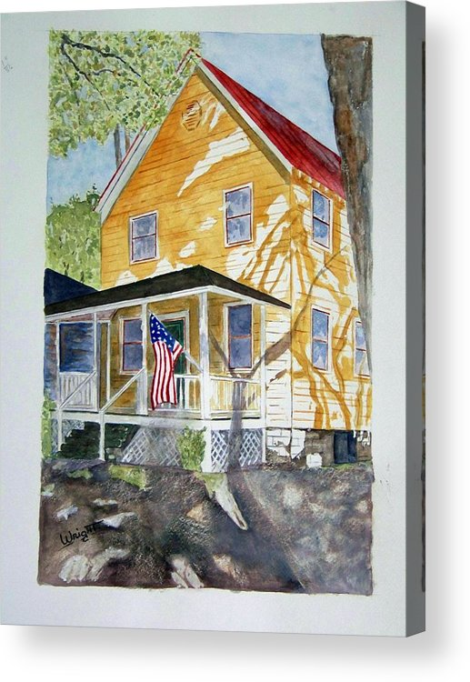 Architecture Acrylic Print featuring the painting Old Glory by Larry Wright