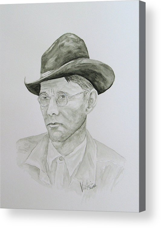 Old Man Acrylic Print featuring the painting Old Man by Torrie Smiley