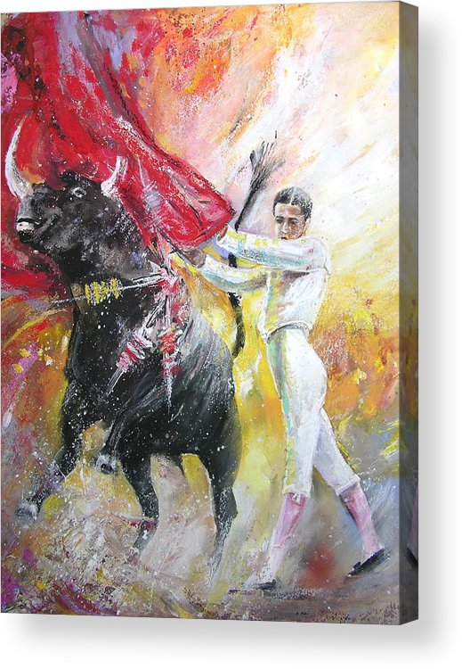 Animals Acrylic Print featuring the painting Ole by Miki De Goodaboom