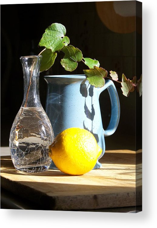 Vine Acrylic Print featuring the photograph On the Table 2 - Photograph by Jackie Mueller-Jones