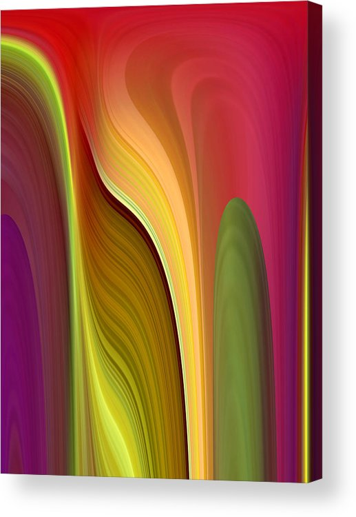 Abstract Acrylic Print featuring the digital art Oomph by Ruth Palmer