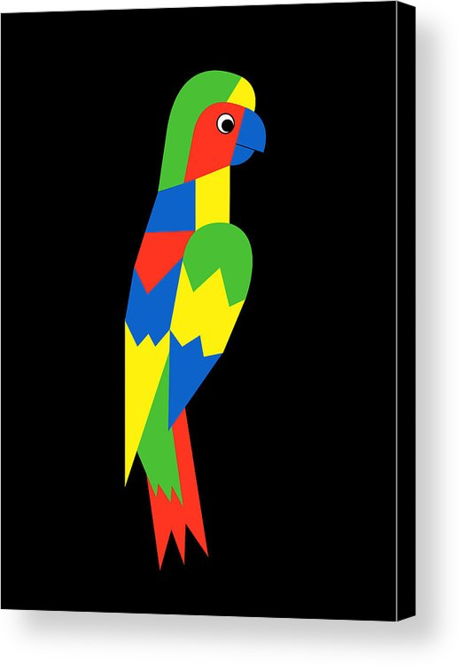 Parrot Acrylic Print featuring the digital art Parrot by Asbjorn Lonvig