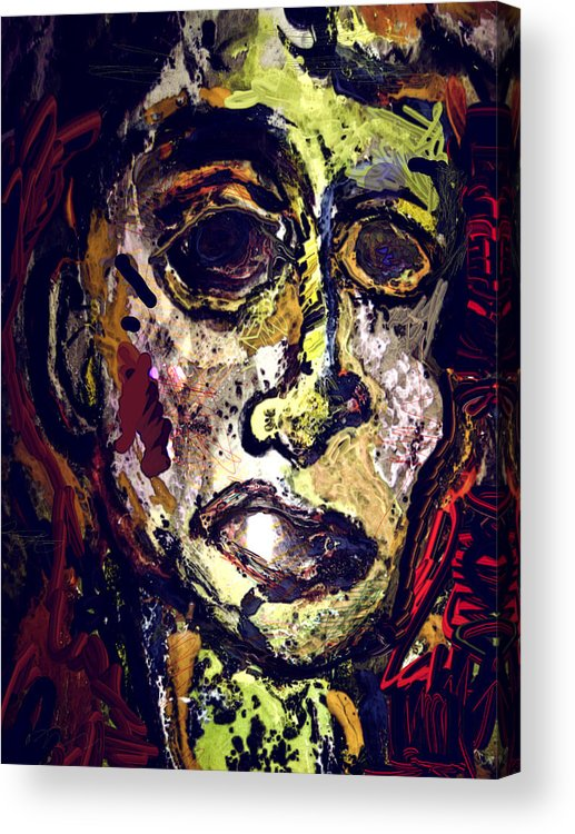 Acrylic Print featuring the painting Pessimist by Noredin Morgan