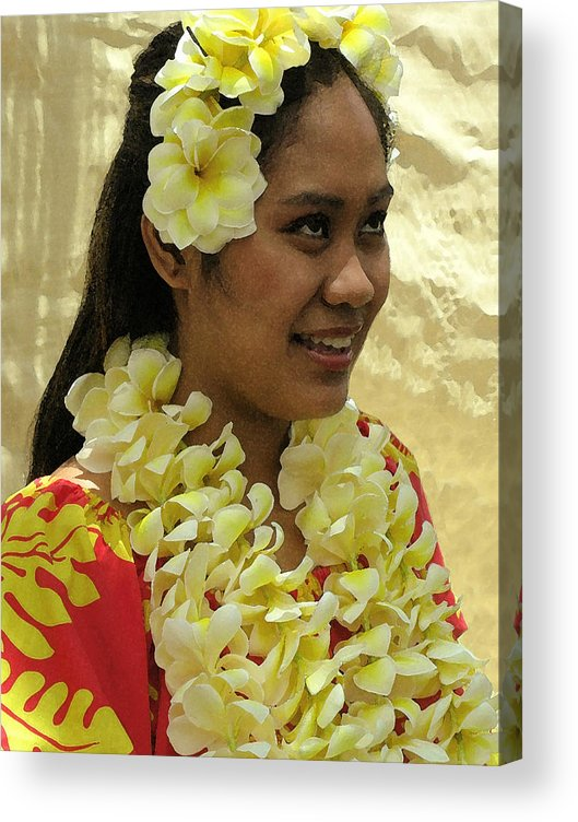 James Temple Acrylic Print featuring the photograph Plumeria Dancer by James Temple