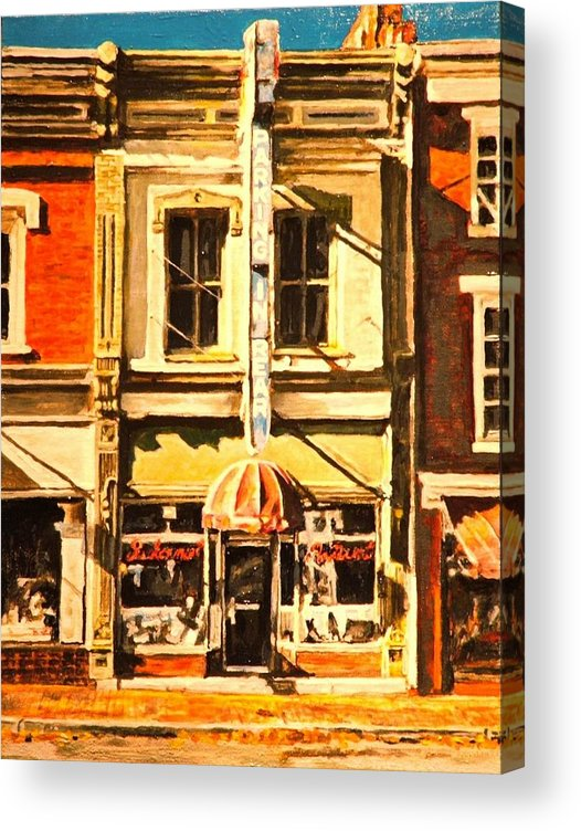 City Scene Acrylic Print featuring the painting Restaurant II by Thomas Akers