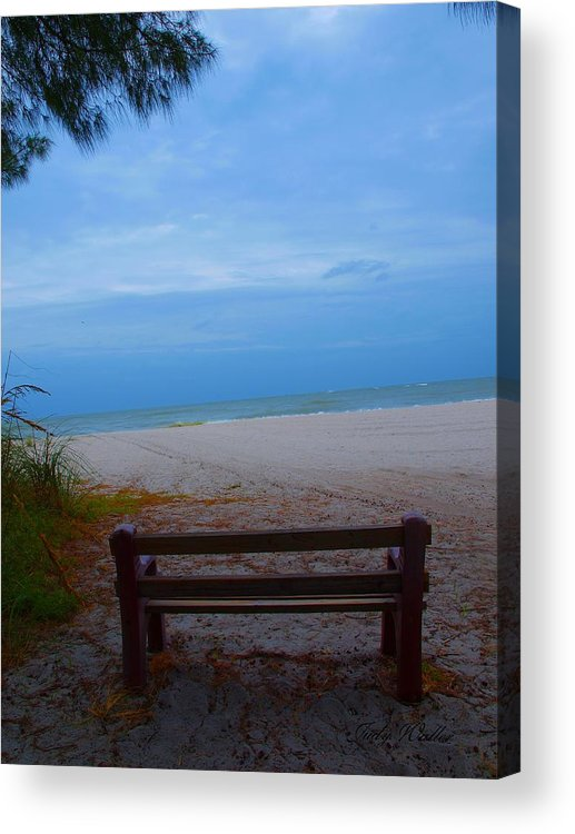 Bench Acrylic Print featuring the photograph Restful by Judy Waller