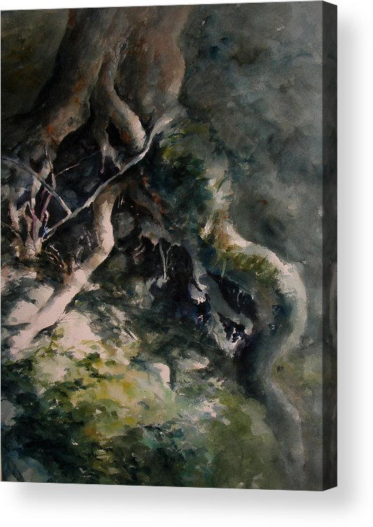 Nature Acrylic Print featuring the painting Revealed by William Russell Nowicki