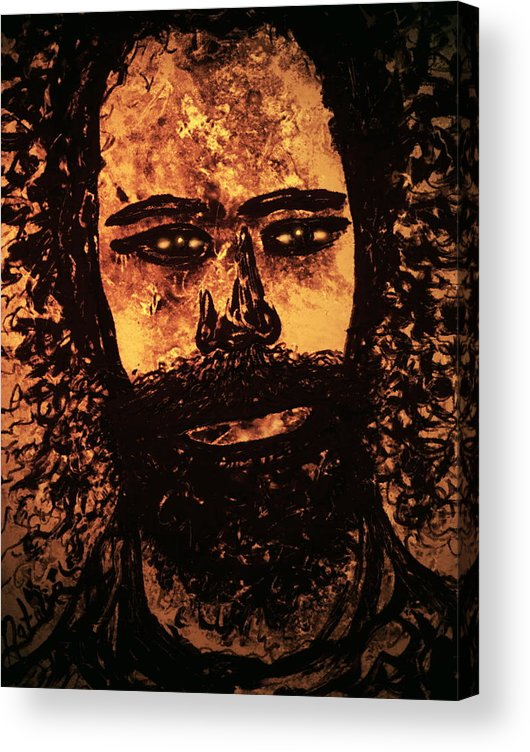Expressionism Acrylic Print featuring the mixed media Romantic Poet by Natalie Holland