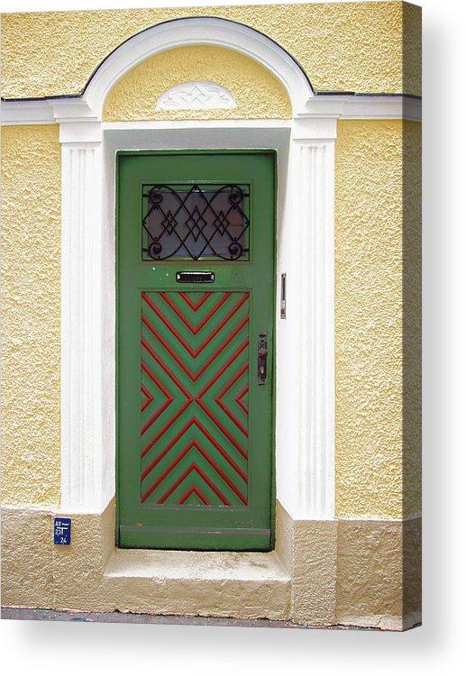 Door Acrylic Print featuring the photograph Salzburg Door by Derek Selander