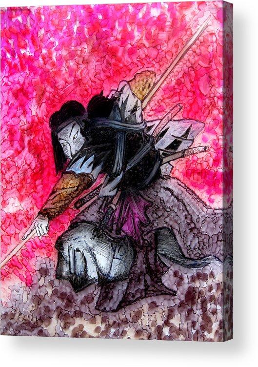 Painting Acrylic Print featuring the painting Samurai by Jeff DOttavio