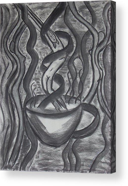 Nude Acrylic Print featuring the drawing Seduction by Marsha Ferguson