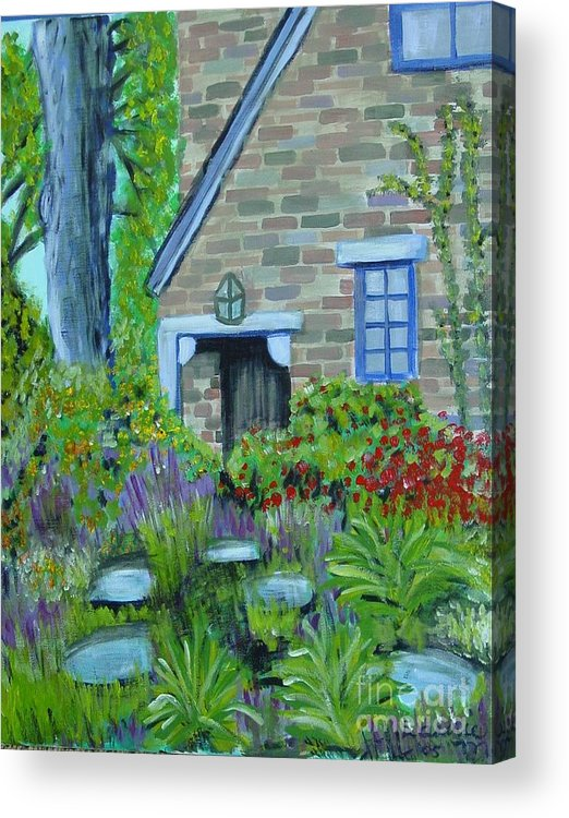 Cottage Acrylic Print featuring the painting Summer Retreat by Laurie Morgan