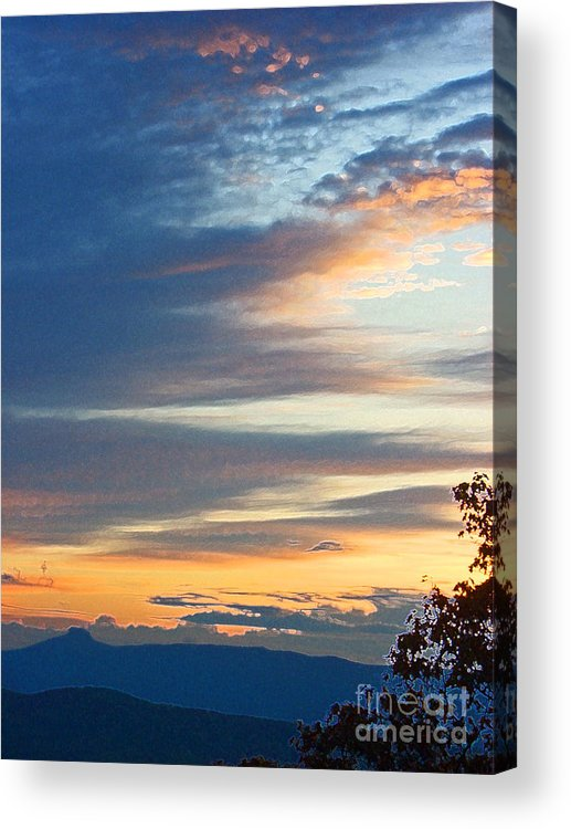 Clouds Acrylic Print featuring the photograph Sunrise at Flatrock by Beebe Barksdale-Bruner