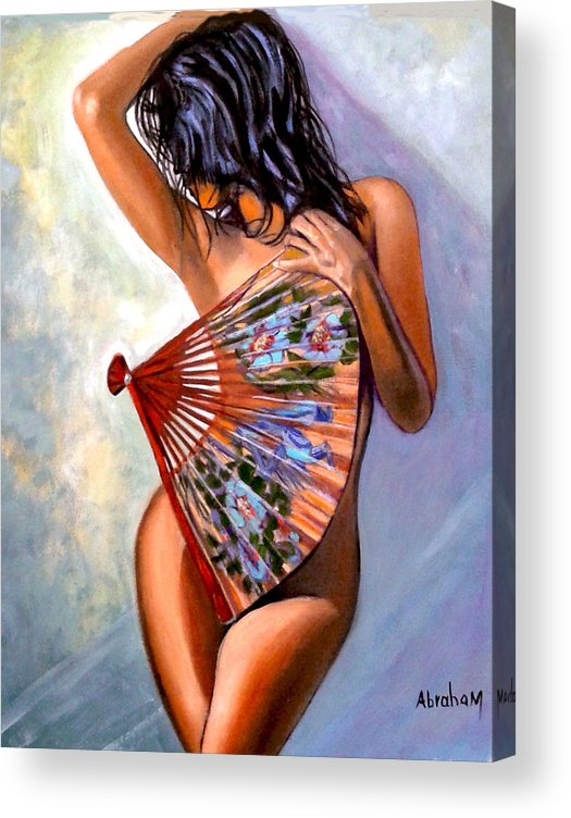Women Acrylic Print featuring the painting Susie by Jose Manuel Abraham