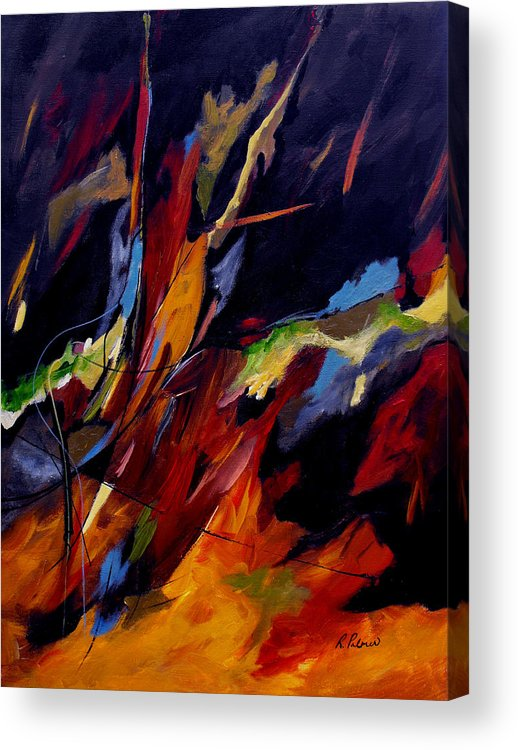 Abstract Acrylic Print featuring the painting Take Action by Ruth Palmer