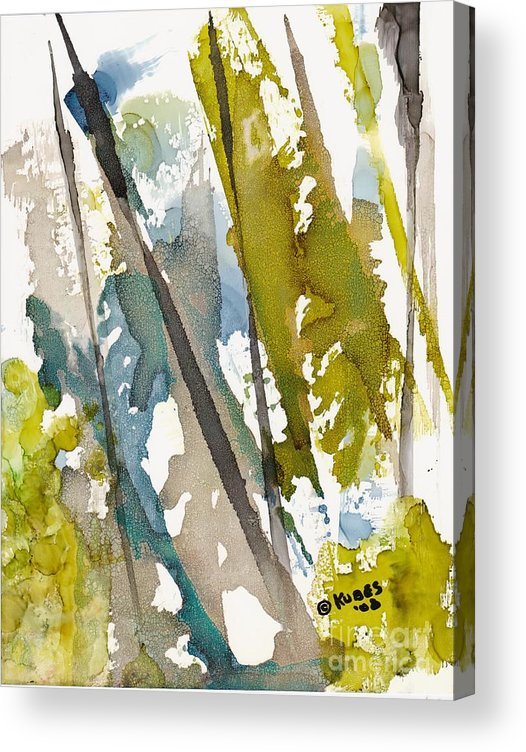 Forest Acrylic Print featuring the painting Tall Timber by Susan Kubes