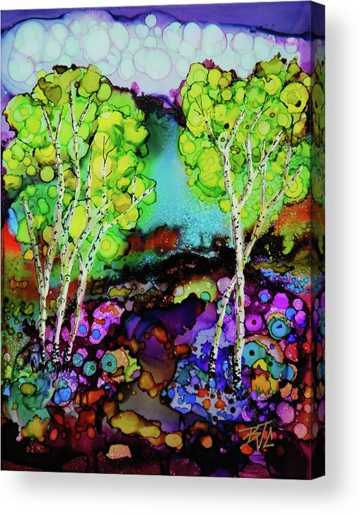 Colorful Landscape Acrylic Print featuring the painting The Colors of Colorado by Billie Colson