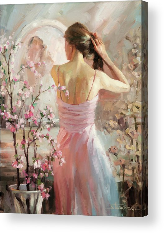 Woman Acrylic Print featuring the painting The Evening Ahead by Steve Henderson