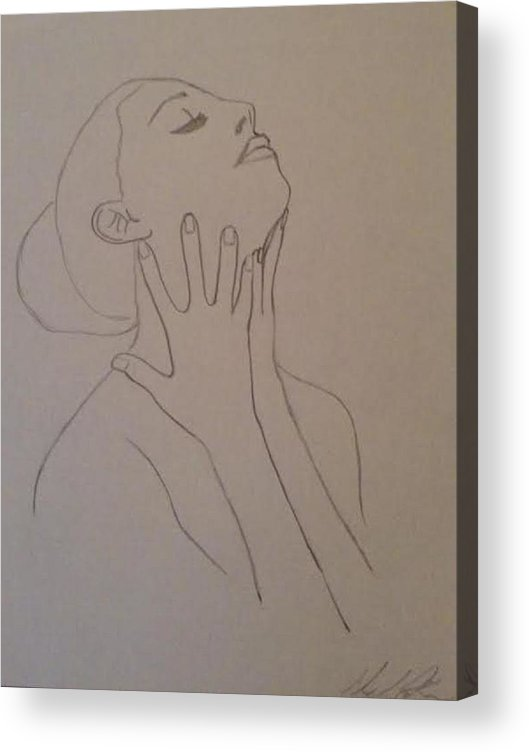 Humans Acrylic Print featuring the drawing The Incomplete Beauty by Sheila Renee Parker