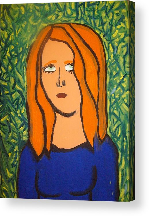 Girl Acrylic Print featuring the painting The jungle of dispare by Samantha Gilbert