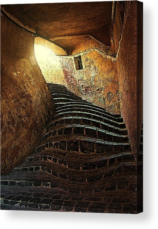 Fine Art Acrylic Print featuring the photograph The light at the end of the tunel by Lucian Badea