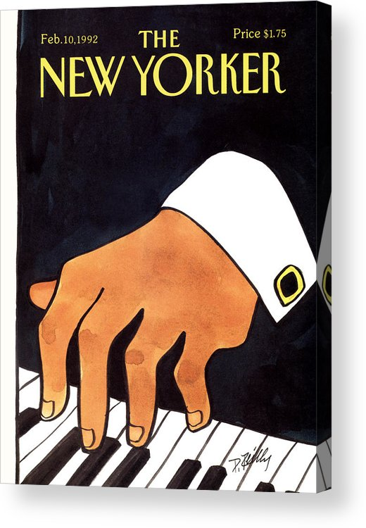 Entertainment Acrylic Print featuring the painting The New Yorker Cover - February 10th, 1992 by Donald Reilly