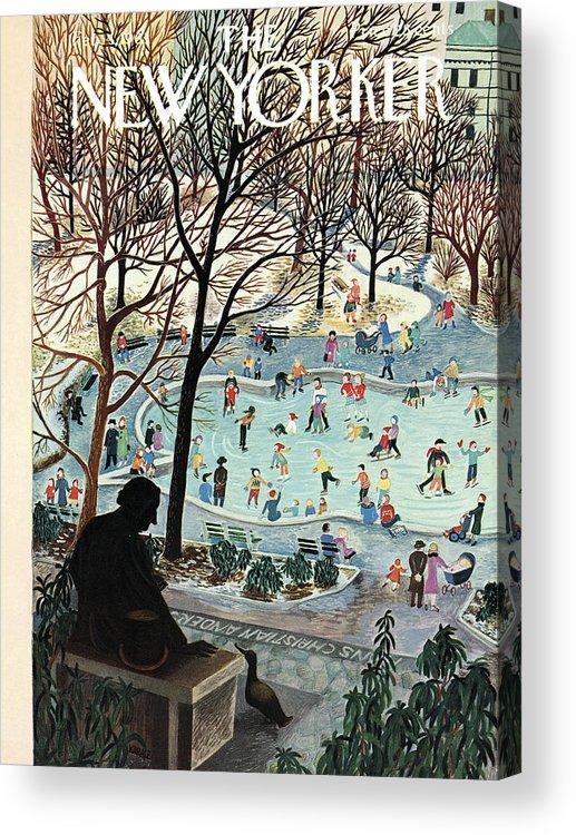 Ilonka Acrylic Print featuring the painting The New Yorker Cover - February 4th, 1961 by Ilonka Karasz