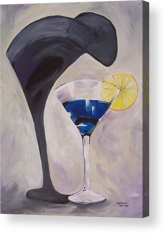 Martini Acrylic Print featuring the painting The Shadow - Two by Torrie Smiley