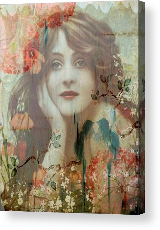 Women Acrylic Print featuring the painting The She by Laura Botsford