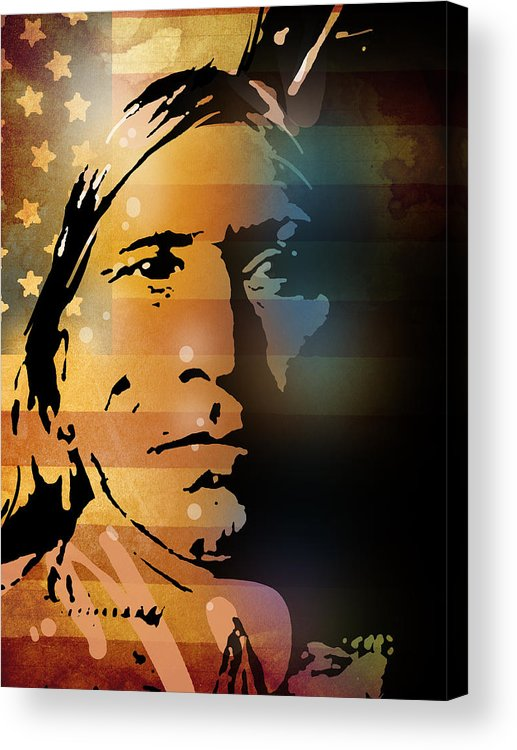 Native American Acrylic Print featuring the painting The Vanishing American by Paul Sachtleben