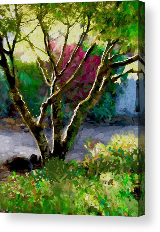 Tree Acrylic Print featuring the digital art This Morning by Dale Witherow
