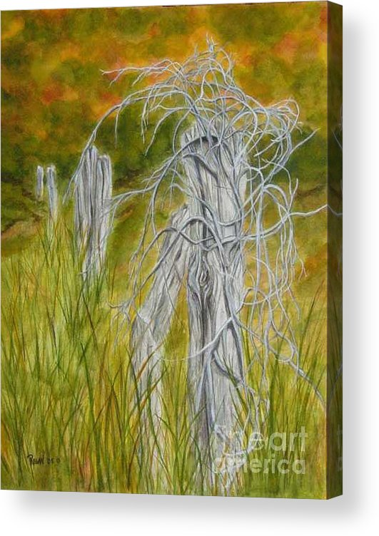 Landscape Acrylic Print featuring the painting Twisted by Regan J Smith