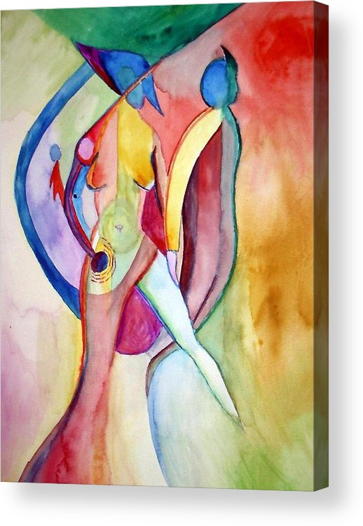 Couple Acrylic Print featuring the painting Two Of Us by Peter Shor