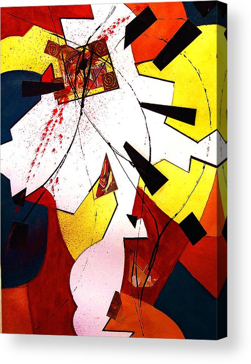 Collage Acrylic Print featuring the painting Untitled Abstract by Tom Herrin
