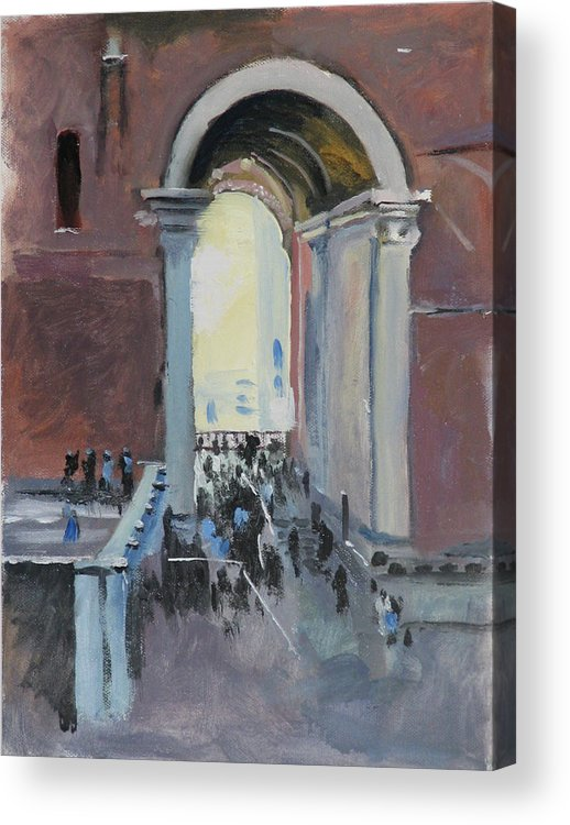 Rome Acrylic Print featuring the painting Vatican by Robert Bissett
