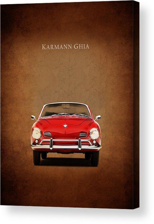 Volkswagen Karmann Ghia Acrylic Print featuring the photograph Volkswagen Karmann Ghia by Mark Rogan
