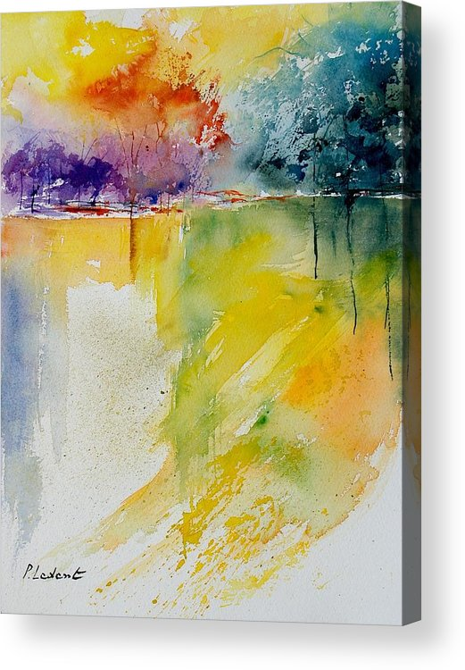 Pond Acrylic Print featuring the painting Watercolor 800142 by Pol Ledent