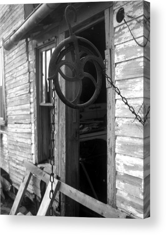Ansel Adams Acrylic Print featuring the photograph Waterpulley by Curtis J Neeley Jr
