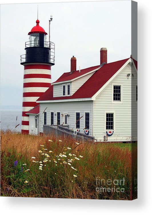Eastport Maine Acrylic Print featuring the photograph West Quoddy Head Light by Brenda Giasson