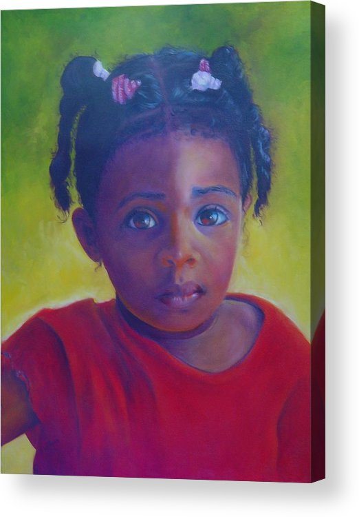 Child Acrylic Print featuring the painting Where is my Mommy by Merle Blair