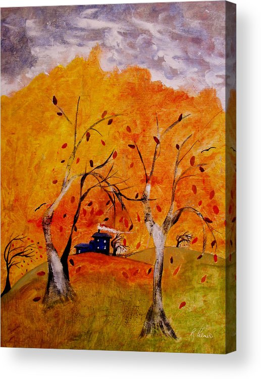 Abstract Acrylic Print featuring the painting Whimsical Wind by Ruth Palmer