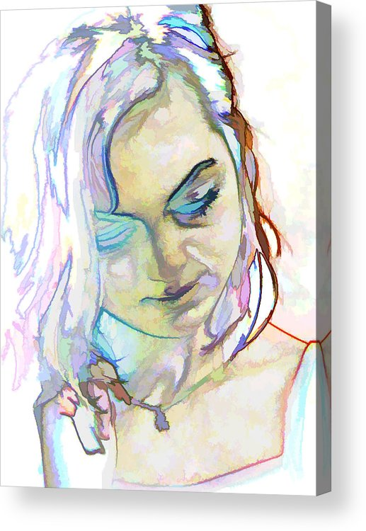 Photography Acrylic Print featuring the photograph Women Body - Color Face1 by Robert Litewka