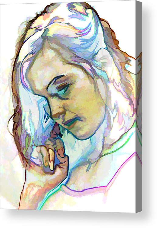 Photography Acrylic Print featuring the photograph Women Body - Color Face2 by Robert Litewka