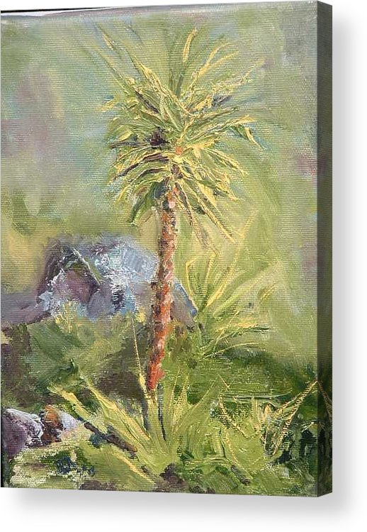 Yucca Acrylic Print featuring the painting Yucca by Bryan Alexander