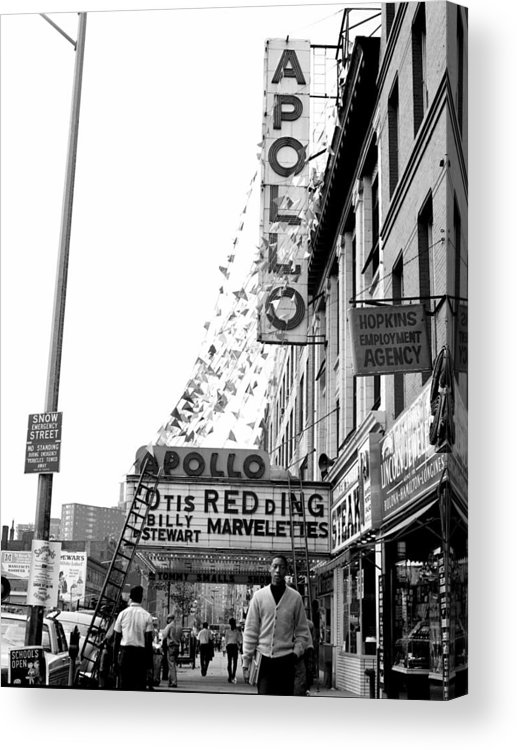 Apollo Theater Acrylic Print featuring the photograph The Apollo Theater In Harlem. Otis by New York Daily News Archive