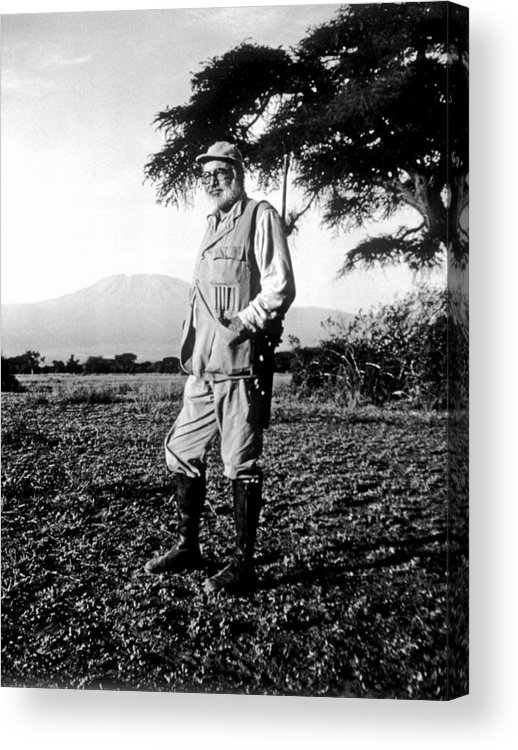 Kenya Acrylic Print featuring the photograph Ernest Hemingway On Safari by Earl Theisen Collection