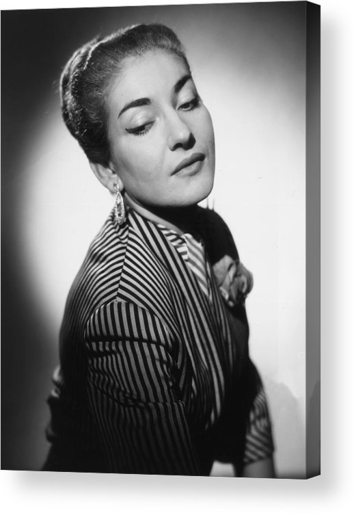 Singer Acrylic Print featuring the photograph Maria Callas by Baron